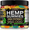 Vitamax Hemp Gummies - Great for Peace, Rest & Relaxation - 950,000 - Natural Fruit Flavors Tasty Relief – Made in USA – Relaxing Gummies – 100ct
