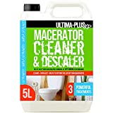 Ultima-Plus XP Toilet Macerator Cleaner and Descaler - Deeply Cleans Toilet Macerators and Removes Limescale - Compatible with All Saniflo Pump Units, Toilets & Urinals (5 litres)