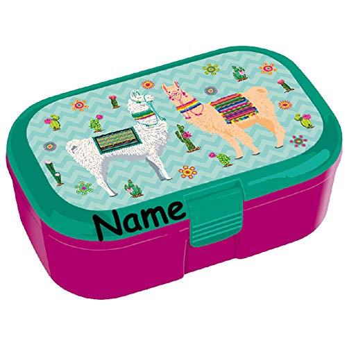 Lunchbox Lama * voor kinderen van Lutz Mauder | broodtrommel met & zonder naam print | Vesper doos broodtrommel school broodtrommel Lamas kleuterschool