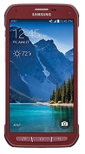 Samsung Galaxy S5 Active G870a 16GB Unlocked GSM Extremely Durable Smartphone w/ 16MP Camera - Ruby Red