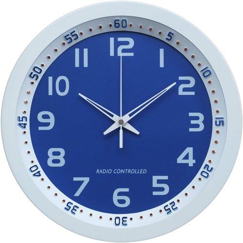 Technoline WT 8971 - Reloj de Pared Controlado por Radio, Colores Blanco Y Azul