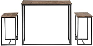 Abington Lane Kitchen Table Set - Versatile, Tall, Modern Table Set for Kitchen, Dining Room, and Living Room (2 Stools)