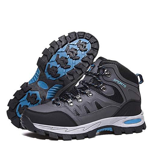 Zapatillas Trekking Hombre Mujer Trail Running Antideslizantes Zapatos de Senderismo Transpirable Botas Montaña Bajas al Aire Libre Gris 42 EU
