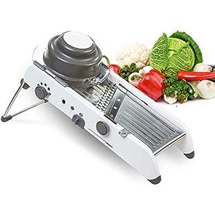 LEKOCH Manual Mandoline Waffle Julienne Slice Vegetable Slicer & Cutter with Adjustable Stainless Steel Blade