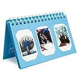 Woodmin 60 Pockets Calendar Photo Album for Fujifilm Instax Mini 8 8+ 9 70 90 7s/Pringo 231/SP 1/Polaroid PIC-300P/Polaroid Z2300 Film (Deep Blue)
