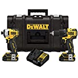 DEWALT ATOMIC 20V MAX Drill Combo, Brushless Hammer Drill/Driver and Impact Driver Kit with TOUGHSYSTEM Case (DCKTS279C2)