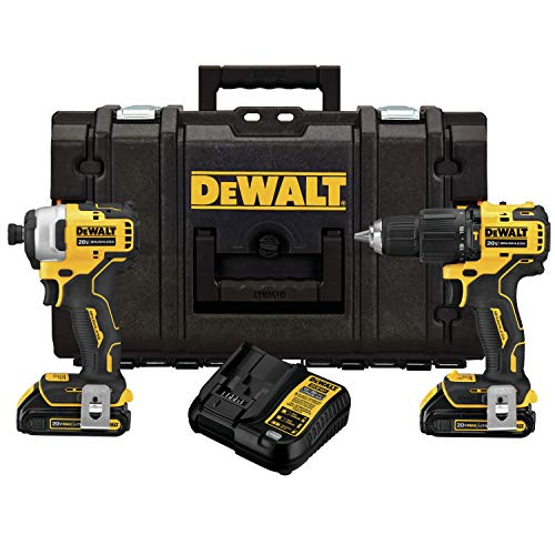 DEWALT DCKTS279C2 ATOMIC 20V MAX Brushless Hammer Drill/Driver and Impact Driver Combo Kit with TOUGHSYSTEM