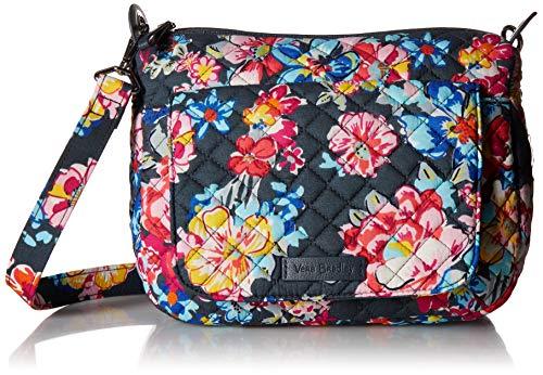 Vera Bradley Signature Cotton Carson Mini Shoulder Bag Crossbody Purse, Pretty Posies