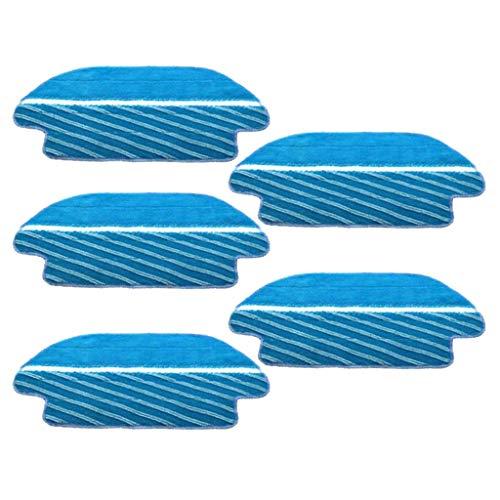 perfk 5pcs Aspiradora Cepillos de Piso Repuestos de Trapo Paño de Trapo Bursh Robótico