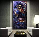 Diamond Painting Kits for Adults/Kids,Egyptian God Anubis 16x32in Round Full Drill 5D DIY Diamonds Dot Embroidery Large Pictures Rhinestone Diamond Art Craft for Home Wall Decor Gift 40x80cm