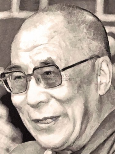 PAINTING PORTRAIT BUDDHIST SPIRITUAL LEADER DALAI LAMA 18X24'' PLAKAT POSTER ART PRINT LV10584