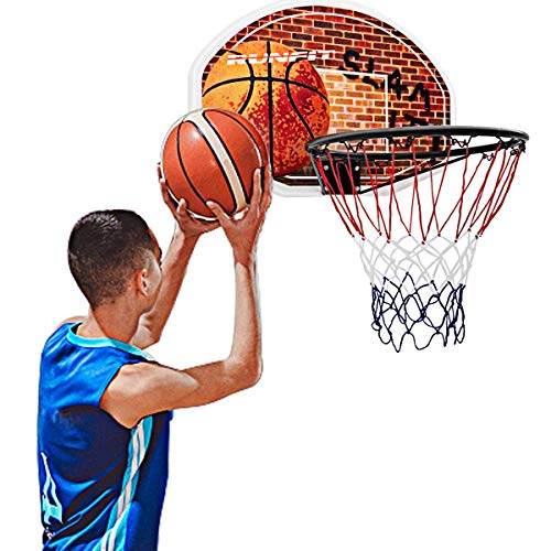 """Goplus 29"""" x 20"""" Mini Basketball Hoop Wall Mounted Portable Basketball Backboard Indoor Outdoor Sports Suitable for Adults and Kids Play"""