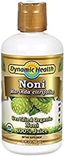 Dynamic Health Organic Certified noni Juice, 32 Oz