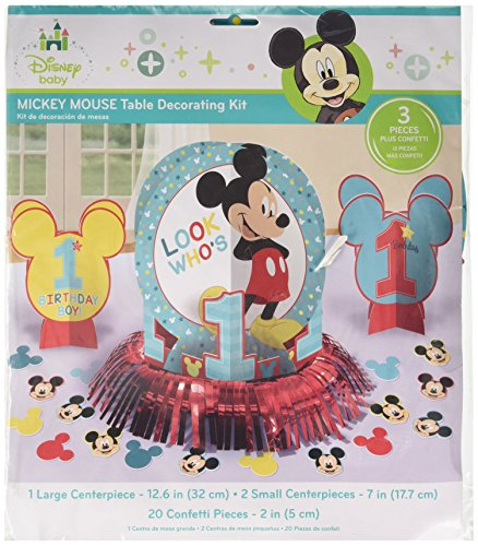 Amscan Disney Mickey's Fun to be One Table Decorating Kit, Birthday, 6 Ct.
