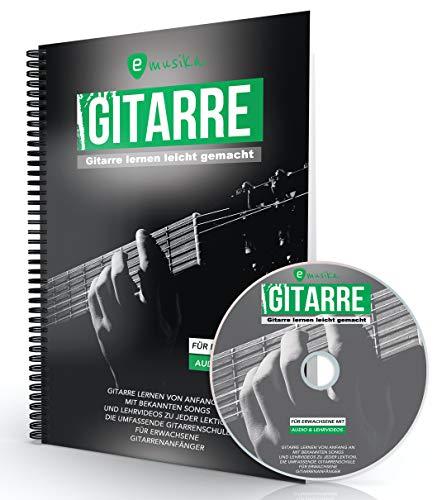 Gitarre lernen für Erwachsene, das neue Gitarrenbuch mit über 4 Stunden HD-Videos auf DVD oder über QR-Codes, vollständig in Farbe