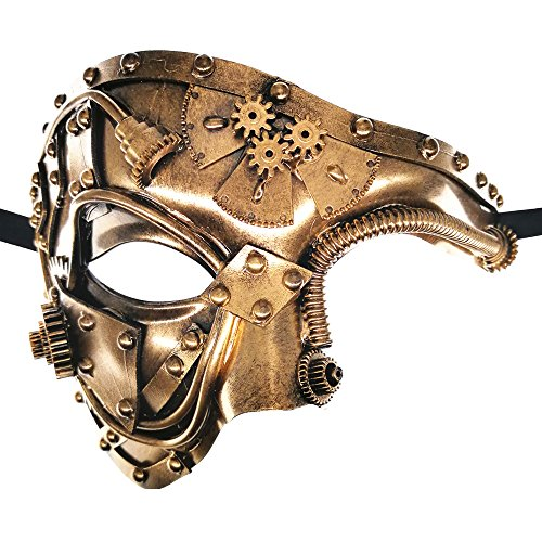 Maschera Steam Punk -Phantom of The Opera- Vintage Masquerade