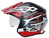 Wulfsport Adult Vista Trials Open Face Casco da motociclista   Rosso XS (53-54cm)