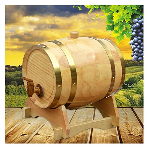 Cubo de Envejecimiento de Roble Cubo de Whisky de 10 litros Adecuado para Almacenar Ron de Cerveza de Whisky Forro de Papel de Aluminio Incorporado (Color : Natural, Size : 10L)