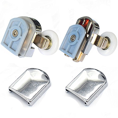 Clarmonde Rodillos dobles para puerta de ducha, 20 mm, juego de 8 unidades, parte superior e inferior (L023,20 mm, juego de 8)