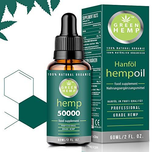 GREEN HEMP   Prämie natürliches Hanfsamenöl   Vegan & Natürlich   60ml hochfeste   THIRD-PARTY LAB TESTED  