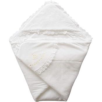 日本製 ふかふかパイル地 クマさん刺繍入りベビーアフガン おくるみ 年中OK素材