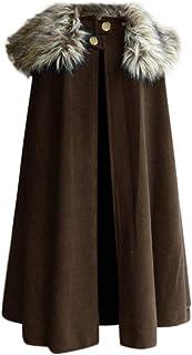 Sunward Stylish Coat for Men,Men's Fashion Wool Cape Coat Vintage Coat Gothic Game of Thrones Jacket