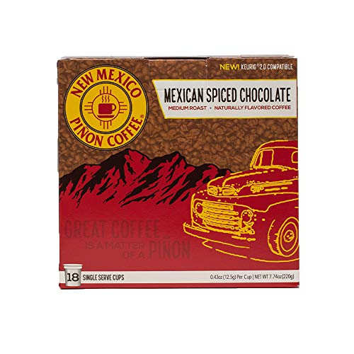 New Mexico Piñon Coffee Naturally Flavored Single-Serve Cups for Keurig Brewers (Mexican Spiced Chocolate, 18ct)