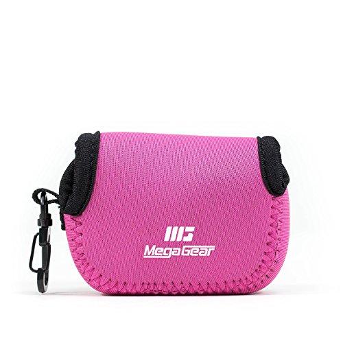 MegaGear MG047 Ultra Light Neoprene Case with Carabiner for GoPro Sj5000GroProHero 3SJ4000HDHero 4Hero 5 Black Camera Hot Pink