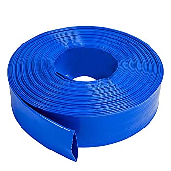 LEBLEBALL 1.5  x50FT Blue Backwash Hose Heavy Duty Discharge Hose Reinforced PVC Pool Drain Hose Weather and Chemical Resistant Ideal for Swimming Pools and Water Transfer