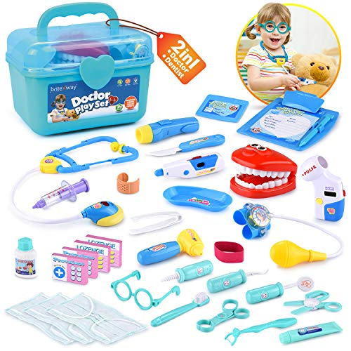 BRITENWAY Educational Doctor Kit Medical Pretend Play Toy...