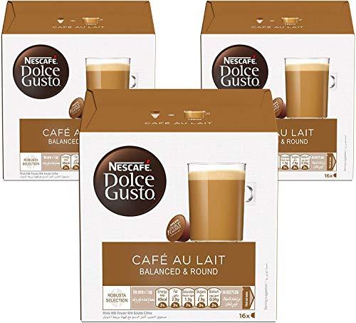 Nescafé Dolce Gusto Magnum Café con Leche - Cápsulas de Café - 3 x 30 - 90 Cápsulas