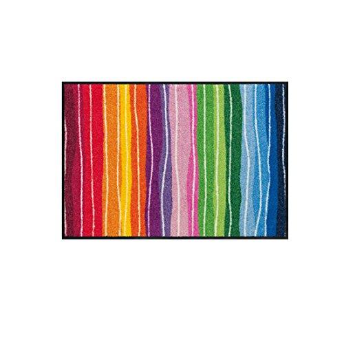 Salonloewe Fußmatte Wavy Lines Streifen Bunt 50x75 cm