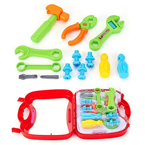 Kekailu Cute Simulation Repair Tool Set Assembling Educational Toy Outdoor Toys Kids Learning Tool Kit for Home DIY and Woodworking-The Best Gift to Child Boy C