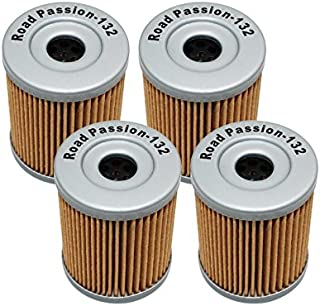 Road Passion High Performance Oil Filter for Suzuki AN400 Burgman 400 1999-2006 AN400 Burgman Type S 400 2003-2006 (pack of 4)