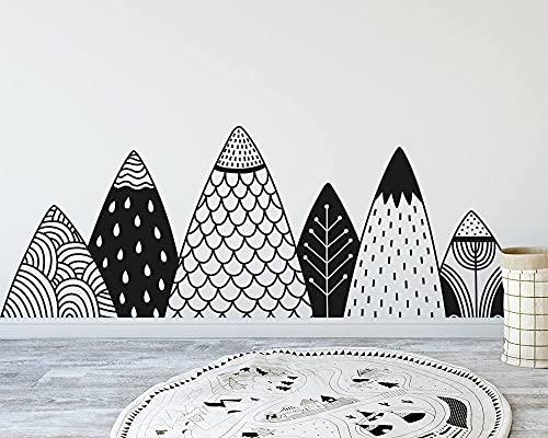 Opprxg Nordic Style Gable Decal Woodland Nursery Decorative Wall Art Natural Vinyl Sticker Mural 42x114cm