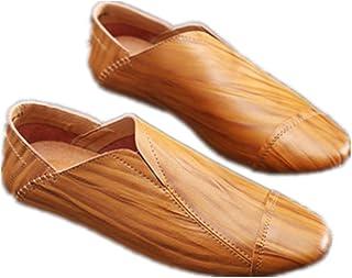 Hombres Zapatos con Cordones Sneaker Mocasines Ligero Plano Suave Durable Hecho a Mano Antideslizante Zapatos