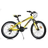 Aurelia 1024BS - Bicicleta de montaña para niño, 24 pulgadas, color amarillo