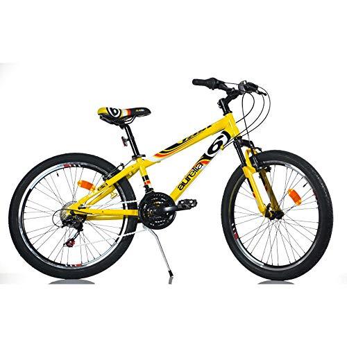 aurelia Bicicletta Mountain Bike MTB Ragazzo 24' Fast Boy 1024BS Giallo