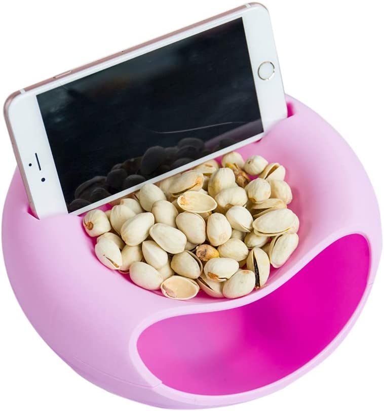 Snack Portland Mall Bowl Double Elegant Dish Nut Holder Ser Cellphone with Slot