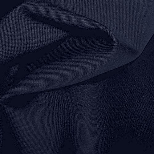 TOLKO Baumwollstoff Segeltuch mittelschwer - Polsterstoff/Möbelstoff als Meterware am Stück (Nacht-Blau)
