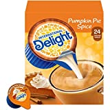 MAKE YOUR TASTE BUDS SING: Elevate your coffee by adding a splash of International Delight Pumpkin Pie Spice Coffee Creamer Singles FILLED WITH THE FESTIVE FLAVOR OF PUMPKIN PIE SPICE so you can truly embrace the season with no refrigeration needed K...
