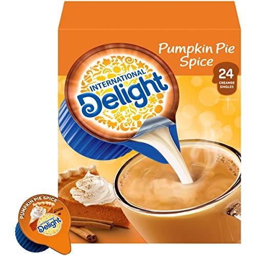 International Delight Coffee Creamer Singles, Pumpkin Pie Spice, 24 Count (Pack of 6) California