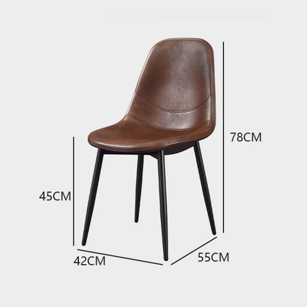 Ping Bu Qing Yun Chaise Longue, Chaise de Salle à Manger décontractée, Chaise rétro en Fer forgé - Café Home Tea Shop Home Chair - Multicolore en Option @ (Color : Black) Green