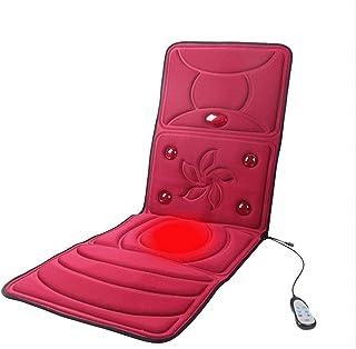 Almohadilla de cojín de Masaje de vibración para Todo el Cuerpo con Calor Cuello Lumbar Hombro Espalda Pierna y Muslo masajeador con Terapia de Calor Azul 166