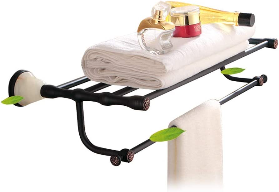 CAIFENG Deluxe Bathroom Lavatory Towel NEW before selling Shelf Rack with T