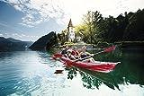 Kayak para hacer tour, 1–3personas,bote de goma,Gumotex Seawave, kajak hinchable para 1-3 personas, Gumotex, kajak de goma para camping, caravana, actividades al aire libre. Productos de vacaciones, innovación hecha en Alemania. Productos de vacaciones, de Stabielo Ilustración.