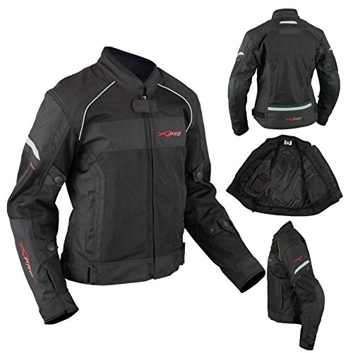A-pro - Chaqueta textil para mujer (talla S), color negro