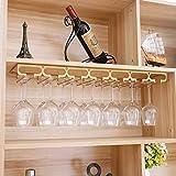 BGHDIDDDDD Novedad - Botellero portabotellas, portavasos perchero para copas dorado hierro diseño moderno estante de cristal para bar cocina
