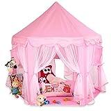 KIDUKU Tenda gioco per Bambini Rosa, Castello di gioco, Castello principessa tenda da gioco grotta da gioco per bambini