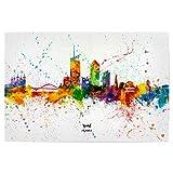 artboxONE Poster 30x20 cm Städte Lyon France Skyline